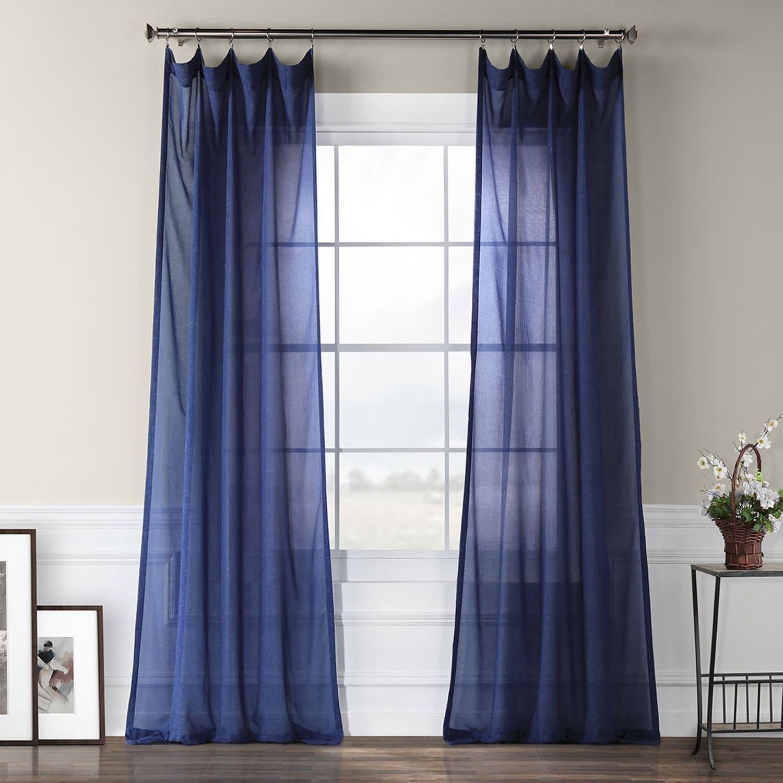 Exclusive Fabrics Faux Linen Sheer