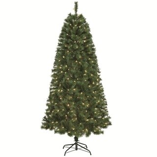 7ft. Prelit Christmas tree with Metal Stand