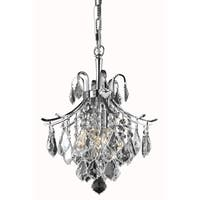 Living District Amelia Collection Chrome 3-Light Pendant
