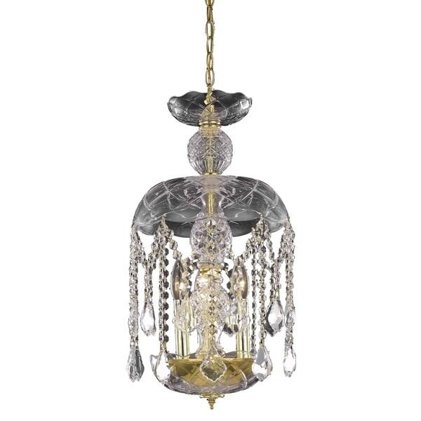 Living District Azalea Collection Gold 3-Light Pendant