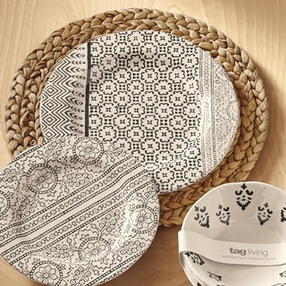 TAG Henna Bamboo Melamine Dinner Plate (Set of 4)