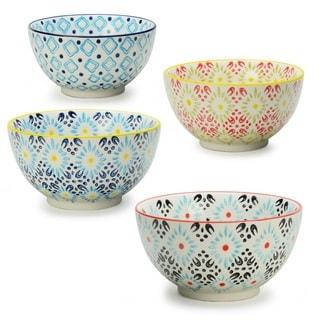 Signature Housewares Print 8 Assorted Bowls ( Set of 4)