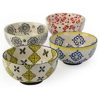 Signature Housewares Print 10 Assorted Bowls ( Set of 4)