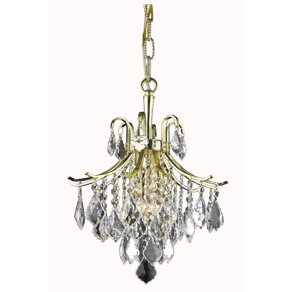 Living District Amelia Collection Gold 3-Light Pendant