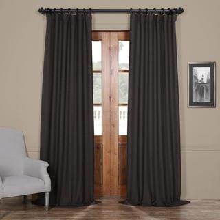 Exclusive Fabrics Bellino Grey Blackout Curtain Panel