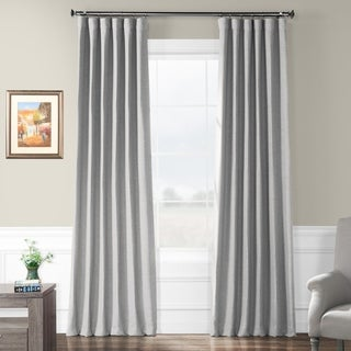 Exclusive Fabrics Vista Grey Bellino Blackout Curtain Panel