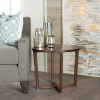 Tansy Round Acacia Wood End Table by Christopher Knight Home