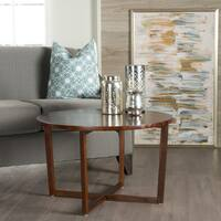 Tansy Round Acacia Wood Accent Table by Christopher Knight Home