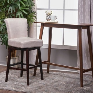 Tracy 32-inchFabric Swivel Barstool by Christopher Knight Home