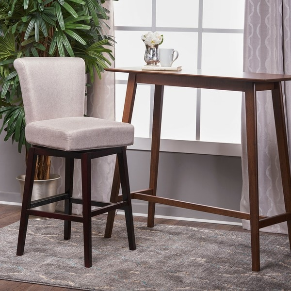 Shop Tracy 32 Inchfabric Swivel Barstool By Christopher Knight Home