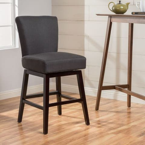 Tracy 28-inch Fabric Swivel Counter Stool by Christopher Knight Home