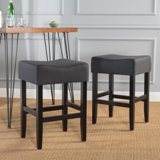 Portman Fabric Backless Counter Stool (Set of 2) by Christopher Knight Home