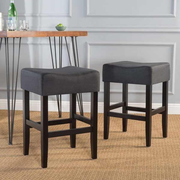 Shop Portman 26 Inch Fabric Backless Counter Stool Set Of