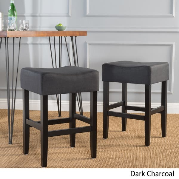 Pleasant Shop Portman 26 Inch Fabric Backless Counter Stool Set Of 2 Forskolin Free Trial Chair Design Images Forskolin Free Trialorg