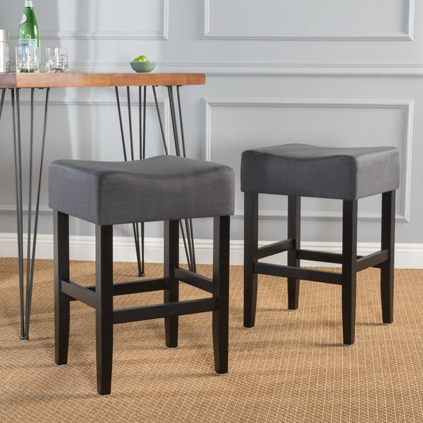 Portman 26 Inch Fabric Backless Counter Stool Set Of 2