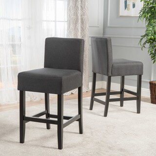 Portman Fabric Backed Counter Stool (Set of 2) by Christopher Knight Home