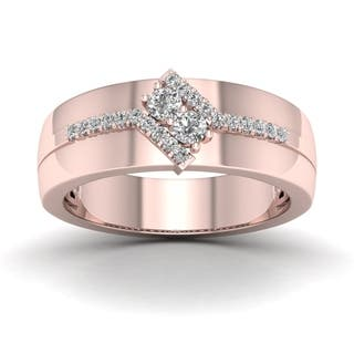 De Couer 1/3ct TDW Diamond Men's Exquisite Wedding Band - Pink|https://ak1.ostkcdn.com/images/products/16153941/P22530331.jpg?impolicy=medium
