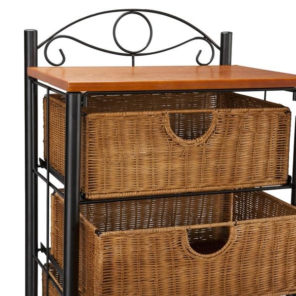 Harper Blvd Wicker 5 Drawer Storage Unit   Free Shipping Today    Overstock.com   1156527