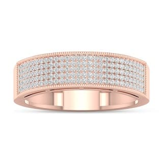 De Couer 3/8ct TDW Diamond Men's Exquisite Wedding Band - Pink|https://ak1.ostkcdn.com/images/products/16154222/P22530538.jpg?impolicy=medium
