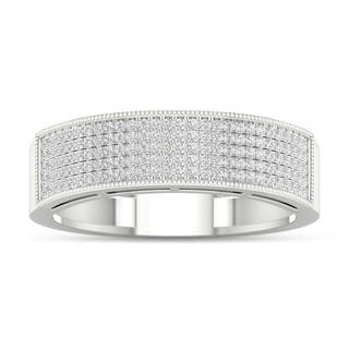 De Couer 3/8ct TDW Diamond Men's Exquisite Wedding Band - White|https://ak1.ostkcdn.com/images/products/16154284/P22530540.jpg?impolicy=medium