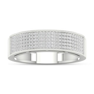 De Couer 3/8ct TDW Diamond Men's Exquisite Wedding Band - White