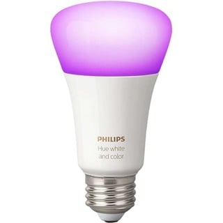 Philips Hue White and Color Ambiance A19 Single LED Bulb