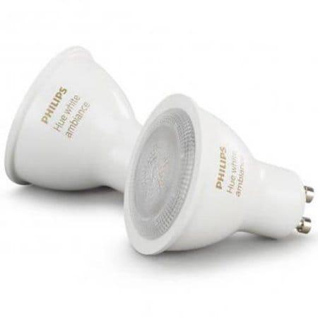 Philips Hue White Ambiance GU10 LED Light Bulb (Pack of 2)