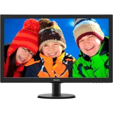 "Philips V-line 273V5LHSB 27"" Full HD WLED LCD Monitor - 16:9 - Black Hairline, Textured Black"