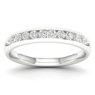 De Couer 1/4ct TDW Diamond Women's Wedding Band (H-I, I2) - White H-I