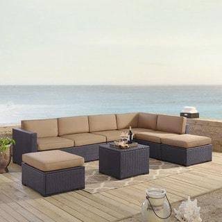 Biscayne 6-piece Outdoor Wicker Seating Set