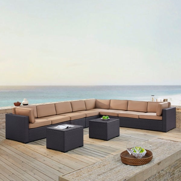 Shop Biscayne Wicker 6-piece Outdoor Seating Set With ... on Safavieh Outdoor Living Granton 5 Pc Living Set id=86347