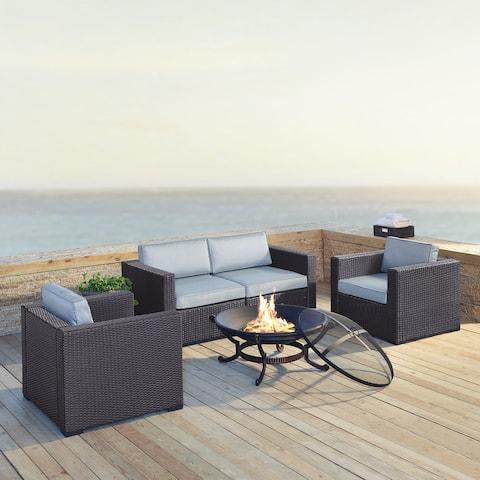 Biscayne Mist Wicker 5-piece Outdoor Seating Set