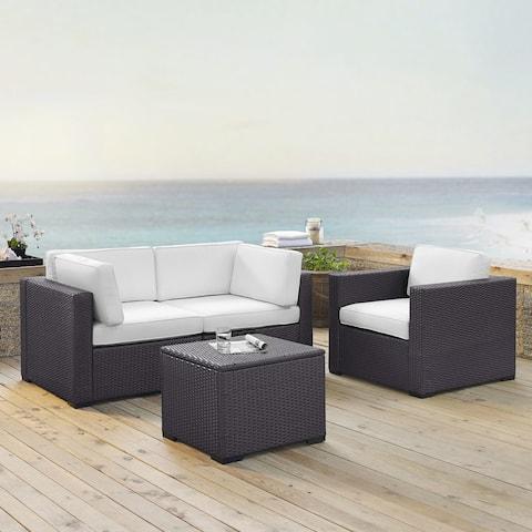 Biscayne Mist Wicker 4-piece Outdoor Seating Set