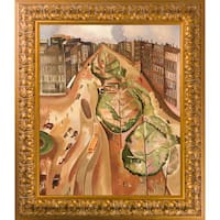 Alice Bailly 'The Avenue' Hand Painted Framed Oil Reproduction on Canvas