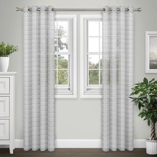 Journee Home 'Sabrina' Extra Wide 84 inch Sheer Grommet Curtain Panel Pair