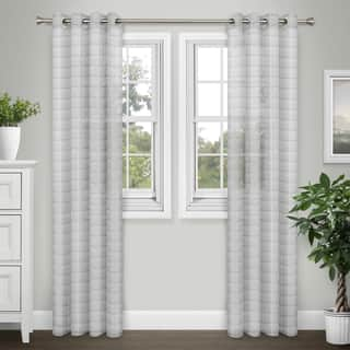 Journee Home 'Sabrina' Extra Wide 84 inch Sheer Grommet Curtain Panel Pair|https://ak1.ostkcdn.com/images/products/16170964/P22545573.jpg?impolicy=medium