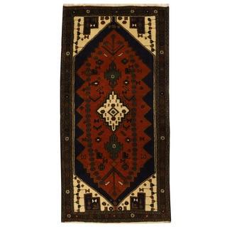 Herat Oriental Persian Hand-knotted Tribal Hamadan Wool Rug (3'3 x 6'3)