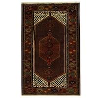 Herat Oriental Persian Hand-knotted Tribal Hamadan Wool Rug (4'5 x 6'9)