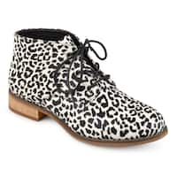 Journee Collection Women's 'Tatum' Lace-up Stacked Wood Heel Booties