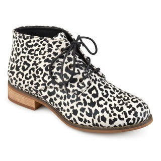 Journee Collection Women's 'Tatum' Lace-up Stacked Wood Heel Booties (More options available)