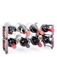 Palm Canyon Allesandro 4-bottle Antique Bronze Stackable Wine Rack (Set of 2)