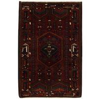 Herat Oriental Persian Hand-knotted Tribal Hamadan Wool Rug (4'6 x 6'8)