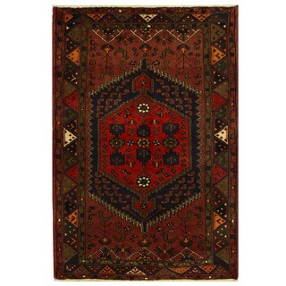 Herat Oriental Persian Hand-knotted Tribal Balouchi Wool Rug (4'3 x 6'3)