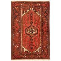 Herat Oriental Persian Hand-knotted Tribal Balouchi Wool Rug (4'4 x 6'6)
