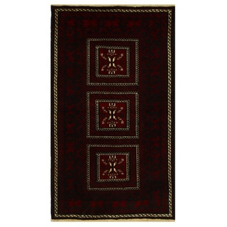 Herat Oriental Persian Hand-knotted Tribal Balouchi Wool Rug (4' x 6'8)