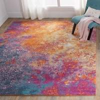 "Nourison Passion Sunburst Area Rug - 5'3"" x 7'3"""