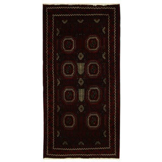 Herat Oriental Persian Hand-knotted Tribal Balouchi Wool Rug (3'5 x 6'9)