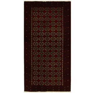 Herat Oriental Persian Hand-knotted Tribal Balouchi Wool Rug (3'5 x 6'7)