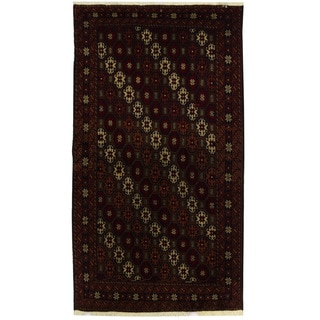 Herat Oriental Persian Hand-knotted Tribal Balouchi Wool Rug (3'5 x 6')