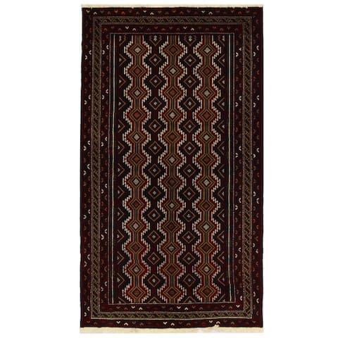 Handmade One-of-a-Kind Balouchi Wool Rug (Iran) - 3'5 x 6'